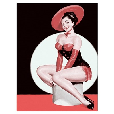 Red Hat Girl Poster