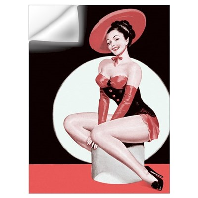 Red Hat Girl Wall Decal