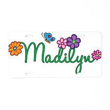 Madilyn Flowers Aluminum License Plate