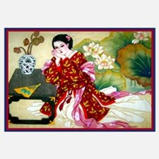 Funny Asian art Wall Art