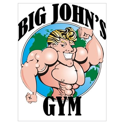 Big John's Gym Canvas Art