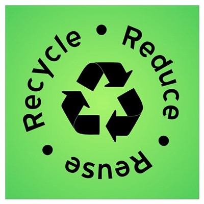 Reduce Reuse Recycle (green) Poster