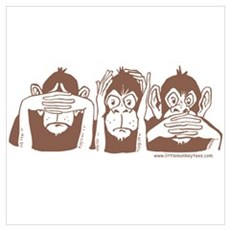 Three monkeys Framed Print