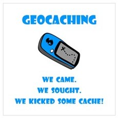Geocaching Kick Some Cache! Framed Print