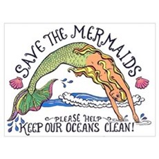 Save the Mermaids Canvas Art