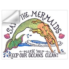 Save the Mermaids Wall Decal