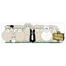 Sheep Family Canvas Art