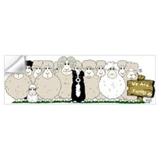 Sheep Family Wall Decal