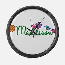 Maddison Flowers Large Wall Clock