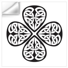 Black Shamrock Celtic Knot Wall Decal