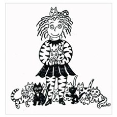 Crazzie Cat Lady Poster