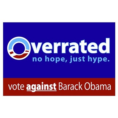 Obama: Overrated Poster
