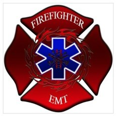 FIREFIGHTER-EMT Framed Print