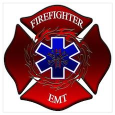 FIREFIGHTER-EMT Poster