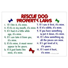 Rescue Dog Property Laws 2 Framed Print