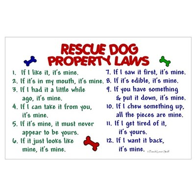 Rescue Dog Property Laws 2 Poster