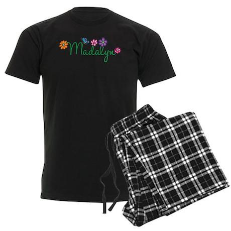 Madalyn Flowers Men's Dark Pajamas