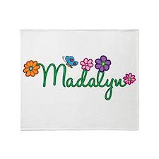 Madalyn Flowers Throw Blanket