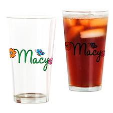 Macy Flowers Drinking Glass