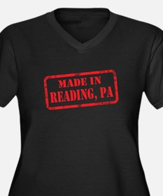 MADE IN READING, PA Women's Plus Size V-Neck Dark
