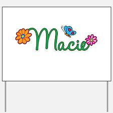 Macie Flowers Yard Sign