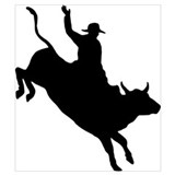 Bull riding Wrapped Canvas Art