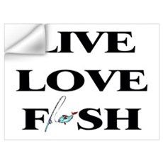 Live, Love, Fish Wall Decal