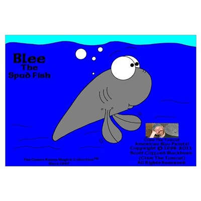 Blee The Spud Fish! Framed Print