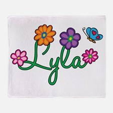 Lyla Flowers Throw Blanket