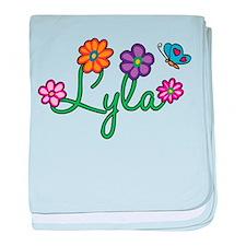 Lyla Flowers baby blanket