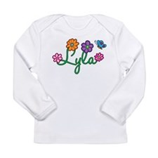 Lyla Flowers Long Sleeve Infant T-Shirt