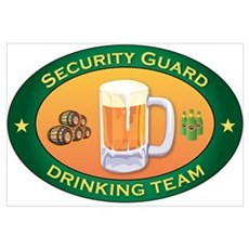 Security Guard Team Framed Print