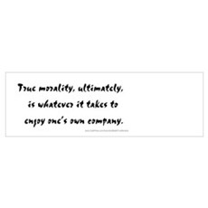 """True Morality"" Poster"