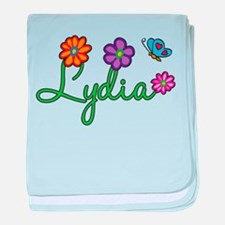 Lydia Flowers baby blanket