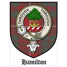Hamilton Clan Crest Tartan Poster