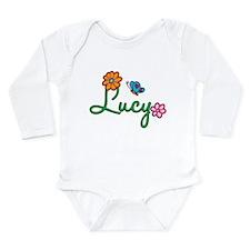 Lucy Flowers Long Sleeve Infant Bodysuit