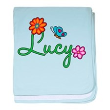Lucy Flowers baby blanket