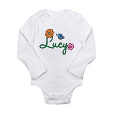 Lucy Flowers Long Sleeve Infant Bodysuit