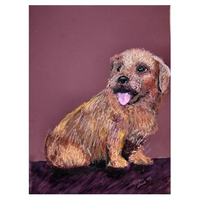 """Corky"" the Norfolk Terrier Canvas Art"