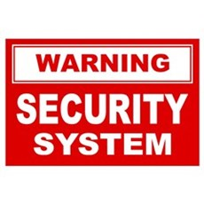 WARNING SECURITY SYSTEM Poster