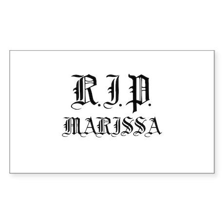 R.I.P. Marissa - Rectangle Sticker