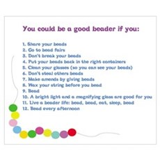 You could be a Good Beader if Poster
