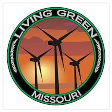 Living Green Missouri Wind Power Poster