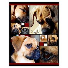 Puggle Parts Poster