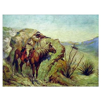 The Apache Framed Print