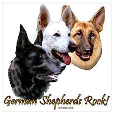 German Shepherds Rock Poster