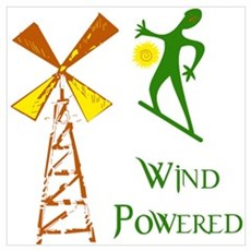 Wind Powered Poster