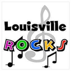 Louisville Rocks Poster