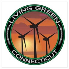 Living Green Connecticut Wind Power P Poster