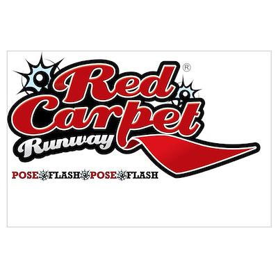 Red Carpet Runway Poster